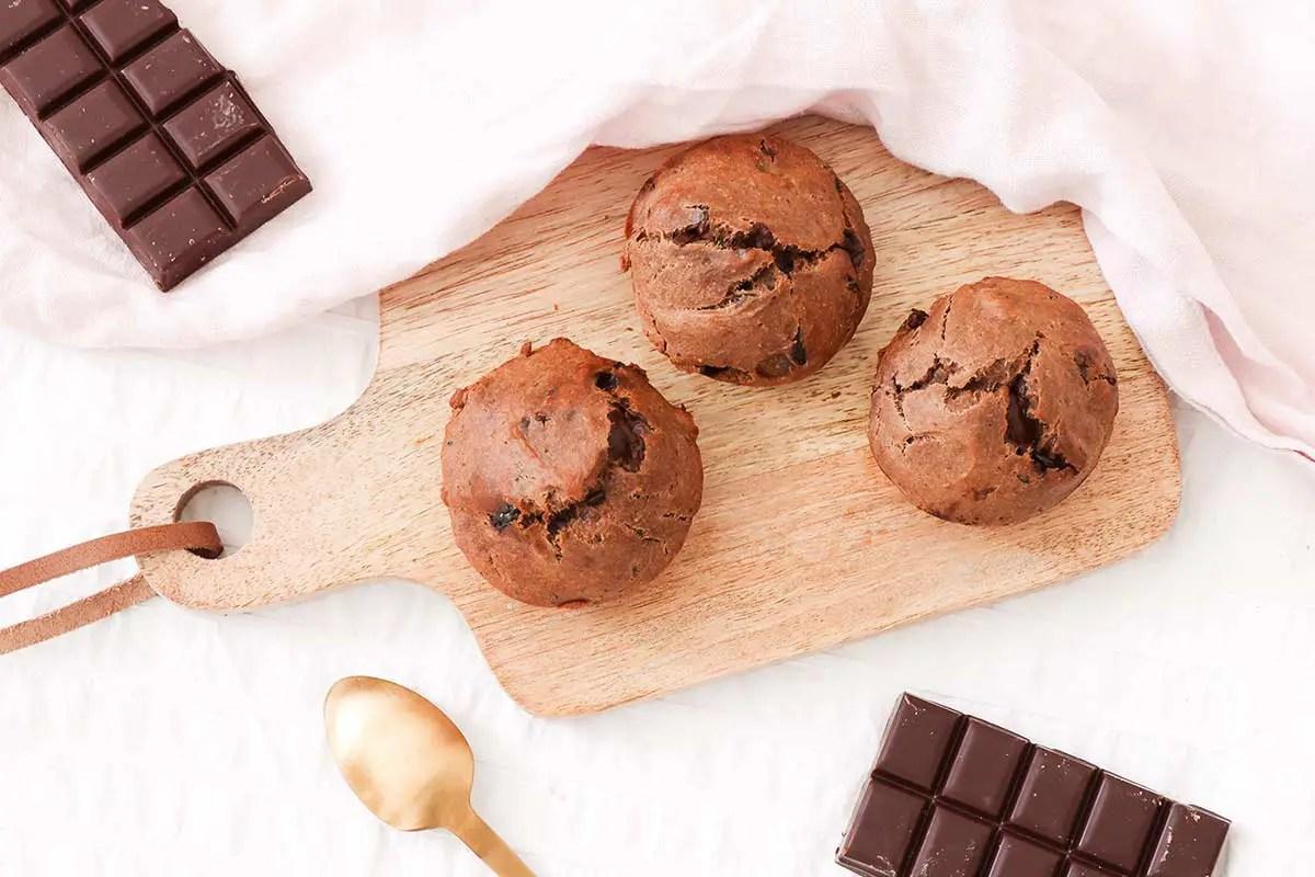 Ma recette de muffins à la banane et au chocolat