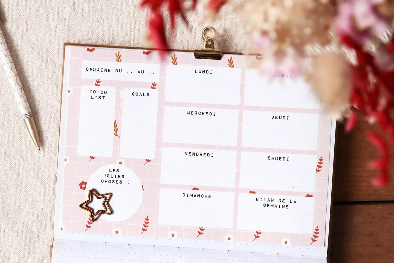 Semainier weekly planner