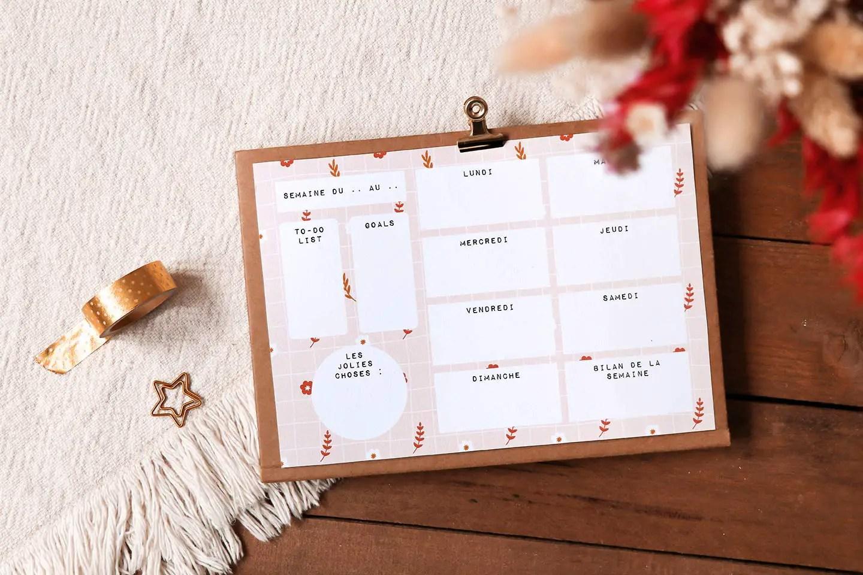 Weekly planner à télécharger