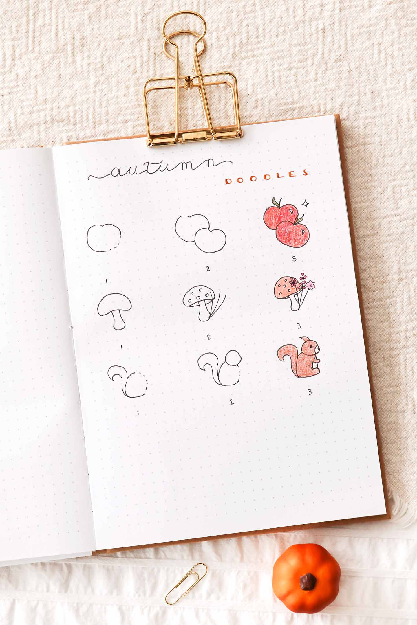 Doodles bullet journal octobre