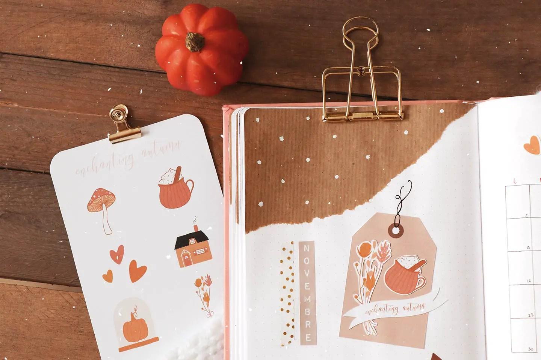Bujo novembre stickers