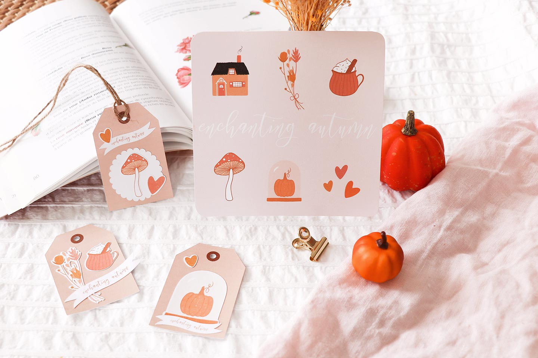 Carte automne papeterie