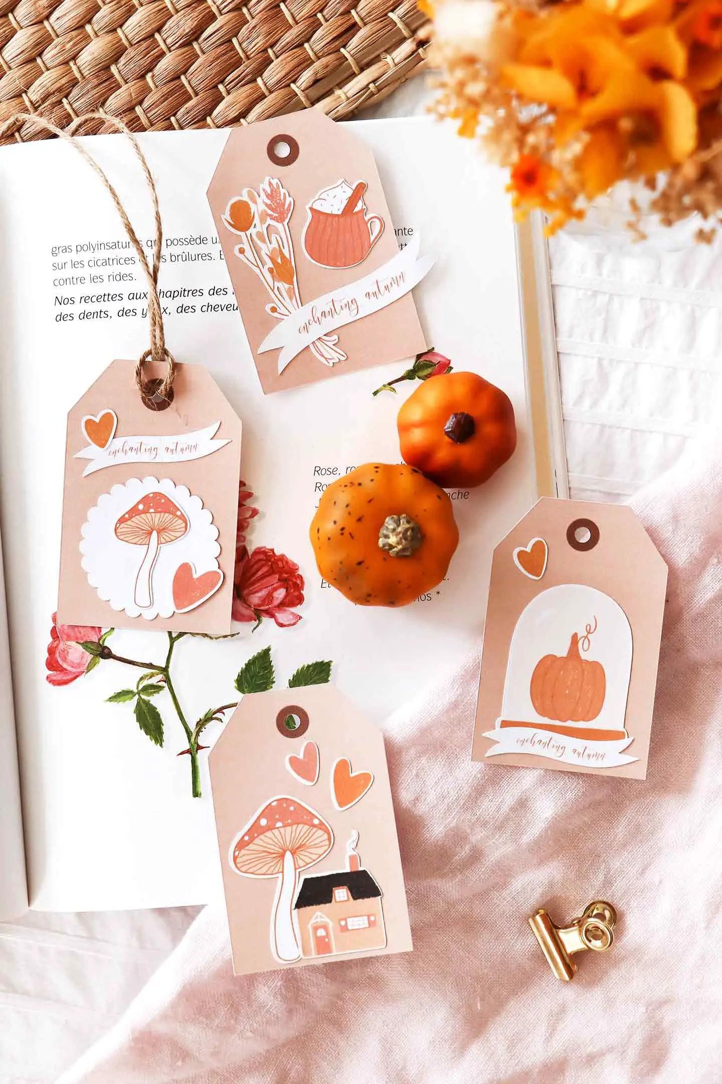 Etiquettes automne