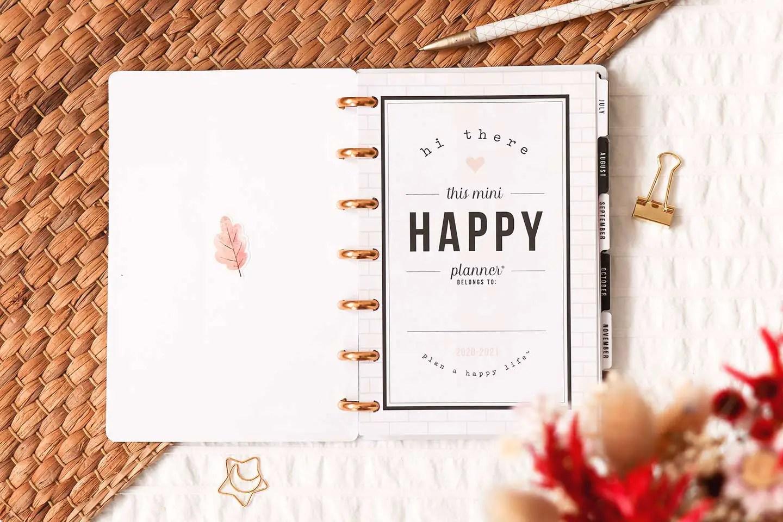 Happy Planner agenda