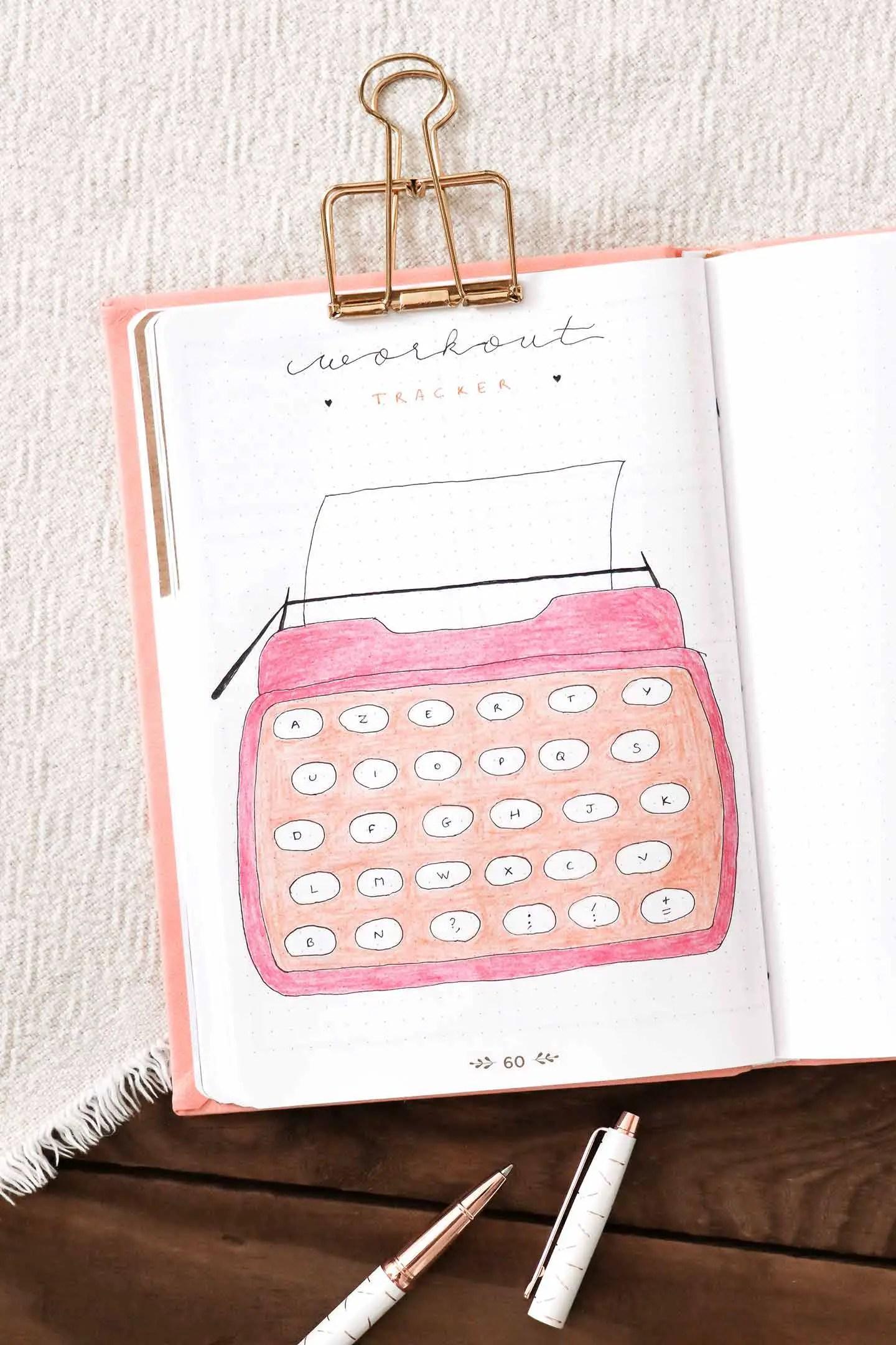 Tracker idée bullet journal