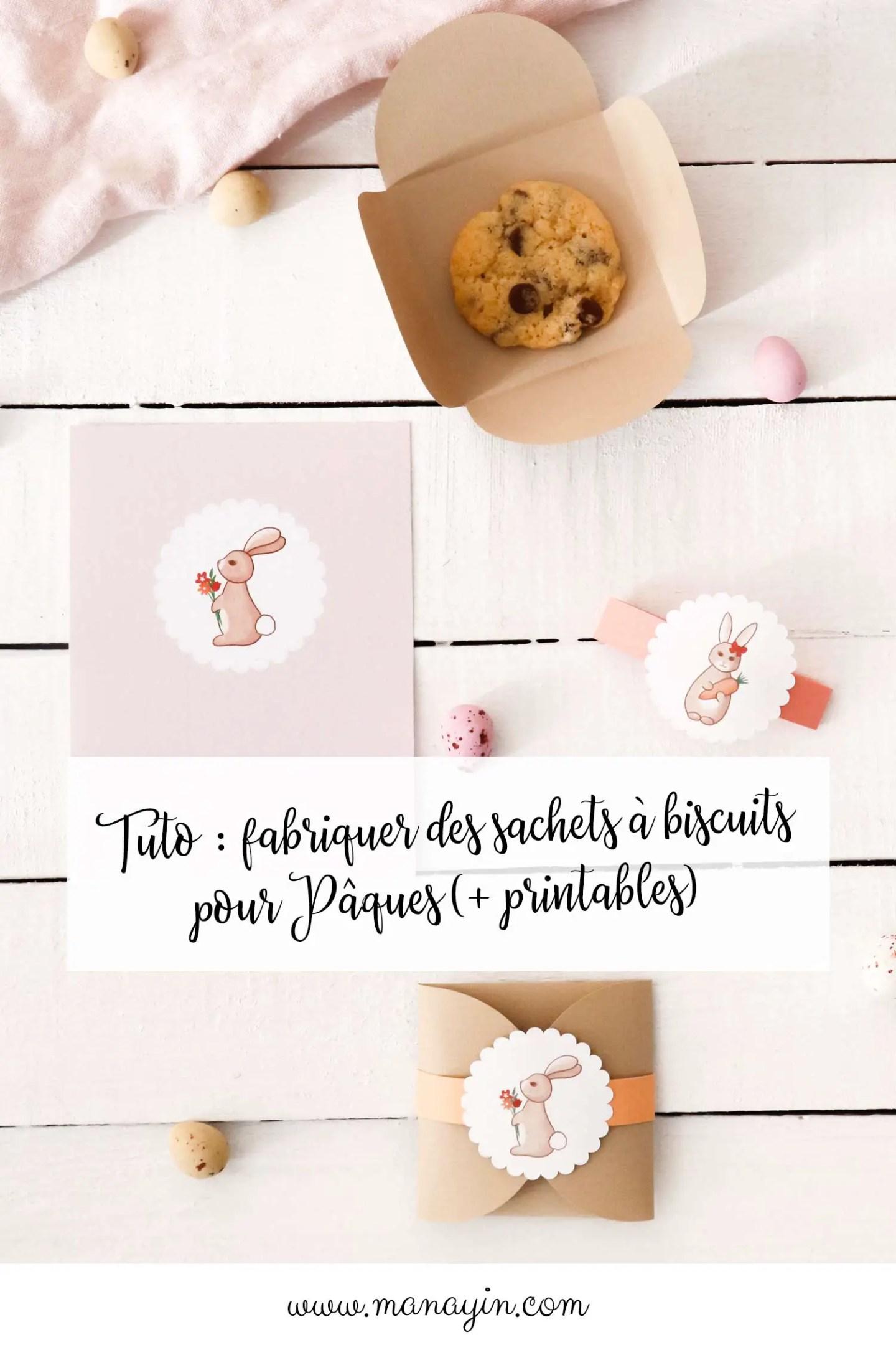 Tuto sachet biscuits Pâques