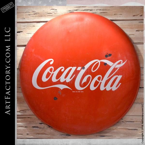 Vintage Coca-Cola round button sign