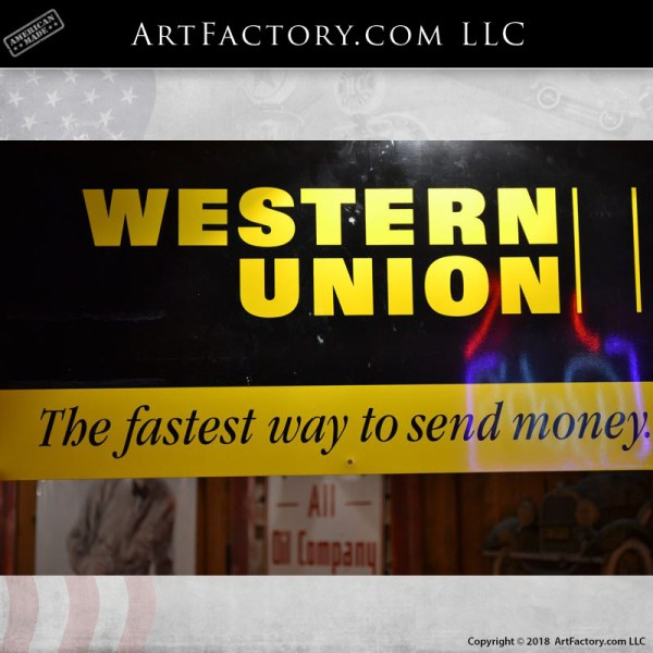 Vintage Western Union Tin Sign: The Fastest Way To Send Money