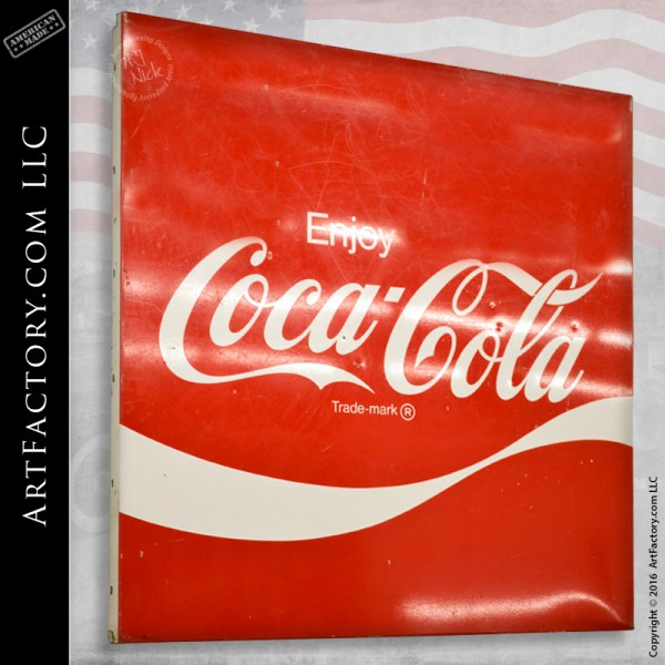 Coca-Cola vintage tin litho sign