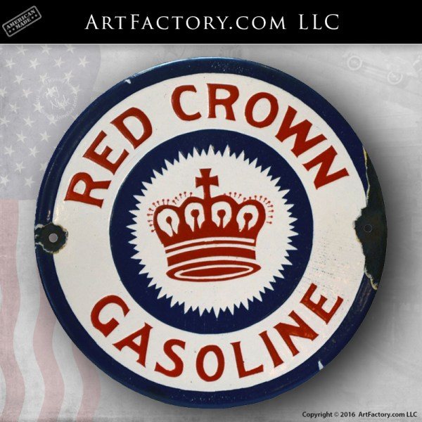 vintage Red Crown Sign