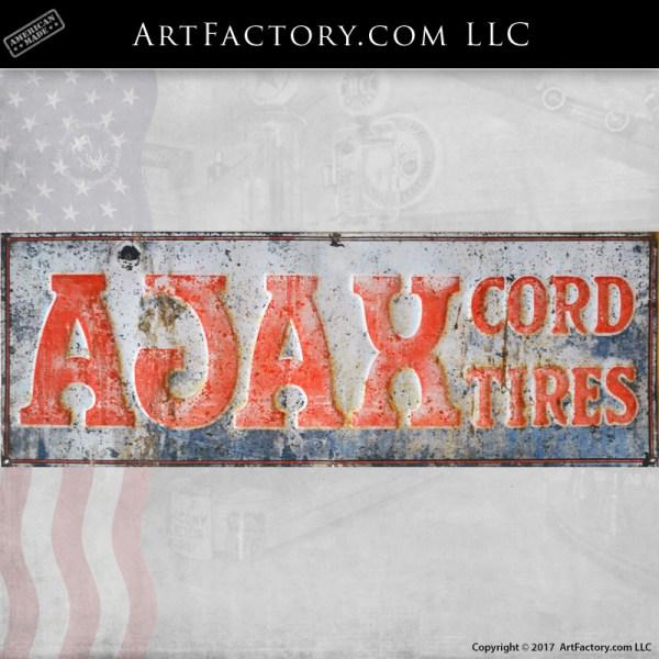AJAX cord tires sign