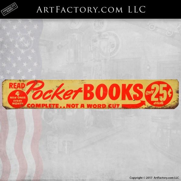 vintage Pocket Books sign