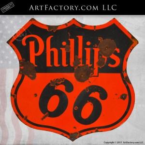 Phillips 66 vintage porcelain sign