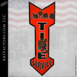 vintage National Tire Service sign