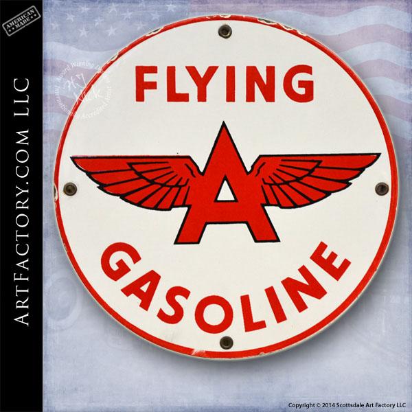 vintage Flying A Gasoline sign