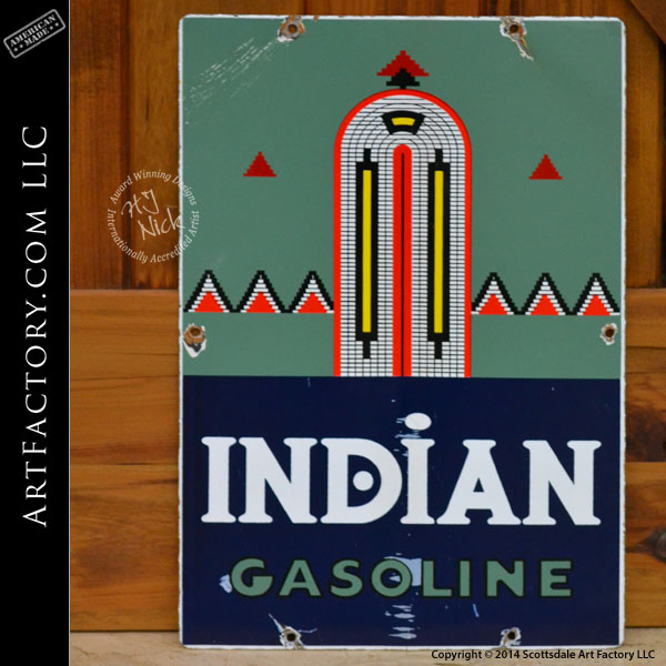 vintage Indian Gasoline sign