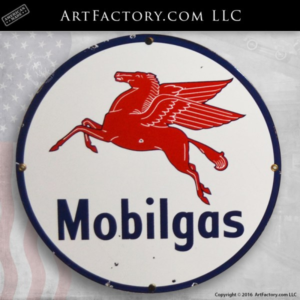 vintage Mobilgas sign
