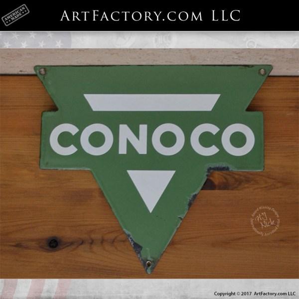 die cut Conoco sign