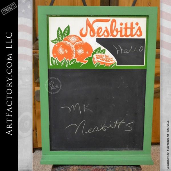 Nesbitt's chalk board sign