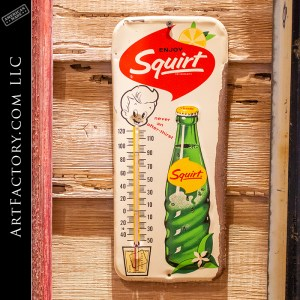 Vintage Squirt Soda Thermometer