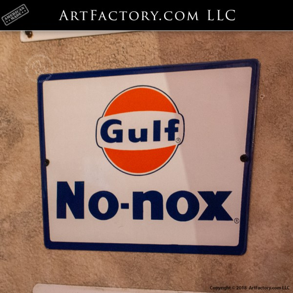 Gulf No-Nox Gas Pump Sign