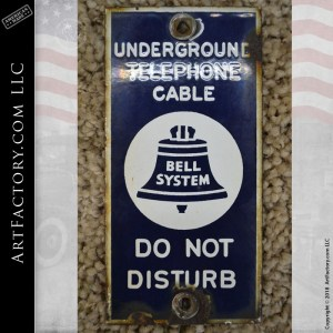 Bell Underground Telephone Cable Sign