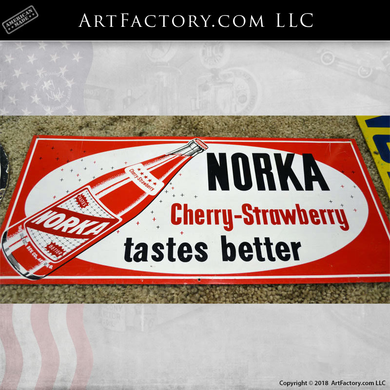 Norka Cherry Strawberry Tastes Better Sign