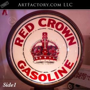 vintage Red Crown Gasoline globe