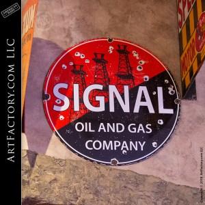 signal porcelain sign