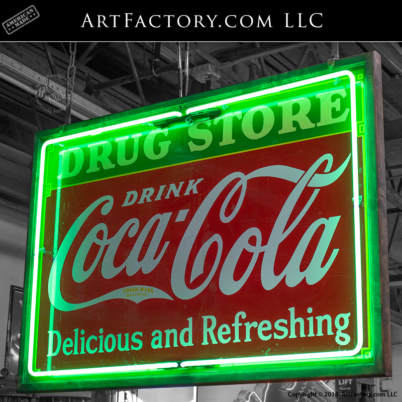 large coca cola neon sign