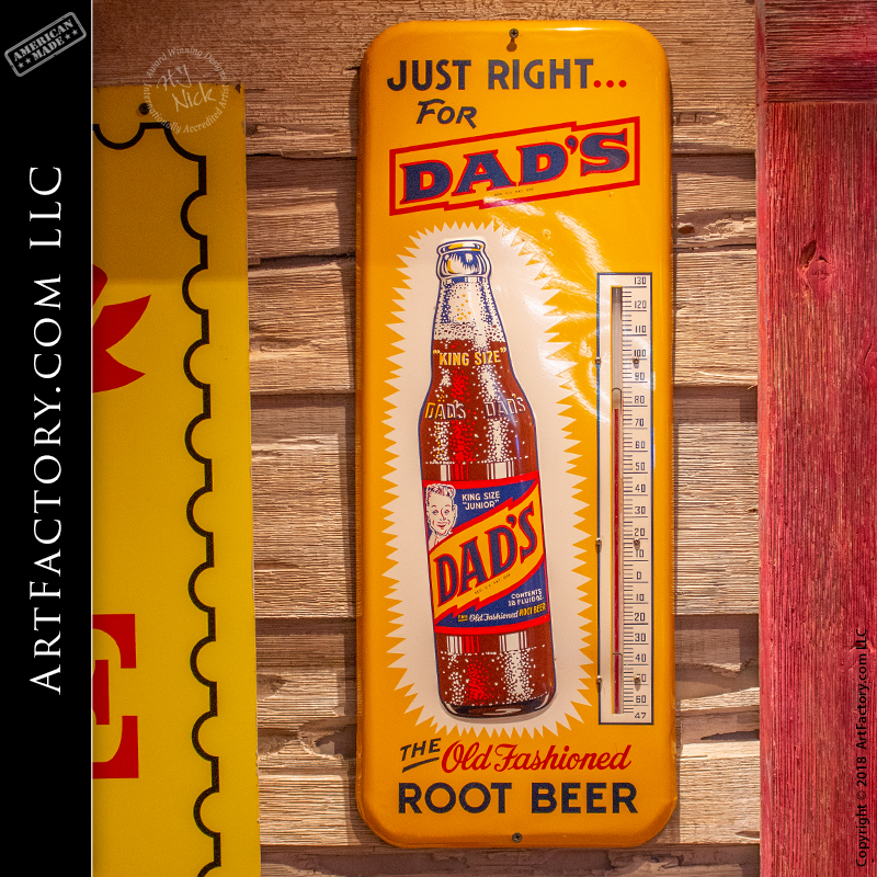 Dads Root Beer Thermometer Sign