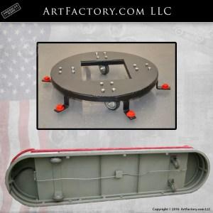 vintage gas pump display carts from ArtFactory.com