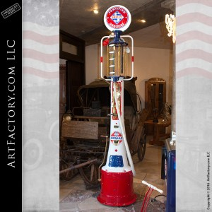 Fry antique visible gas pump