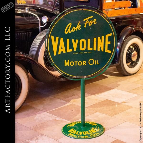Valvoline Motor Oil Lollipop Sign