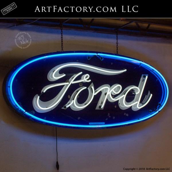 Vintage Ford Dealership neon sign