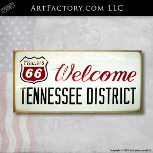 Phillips 66 Welcome Tennessee District Light Up Sign