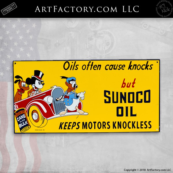 vintage Sunoco Oil Disney sign
