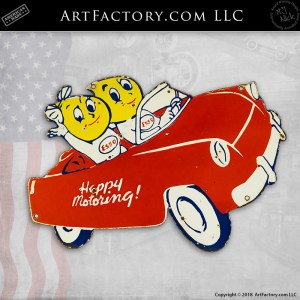 vintage Esso Happy Motoring sign
