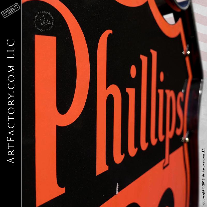 Vintage Phillips 66 Porcelain Sign