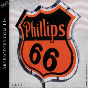 Vintage Phillips 66 Porcelain Sign