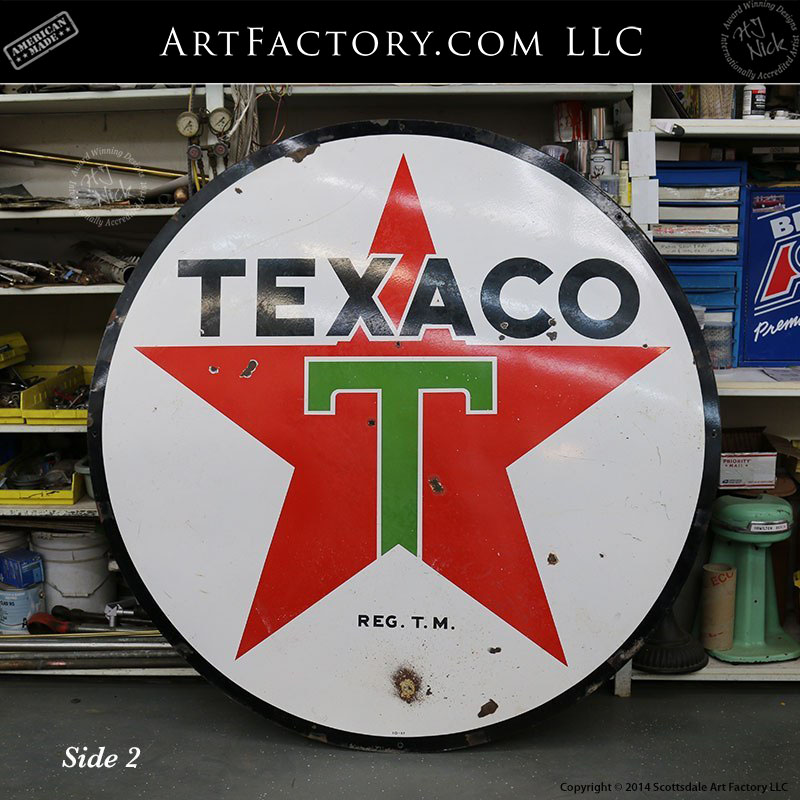 6 foot texaco sign