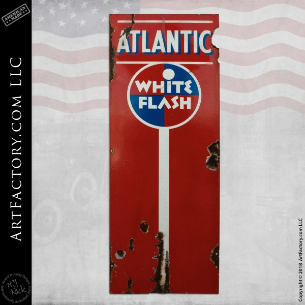 Vintage Atlantic White Flash Sign