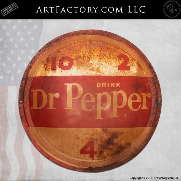 Vintage Dr Pepper Soda Porcelain Sign