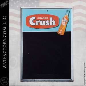 Vintage Orange Crush Soda Chalkboard Sign