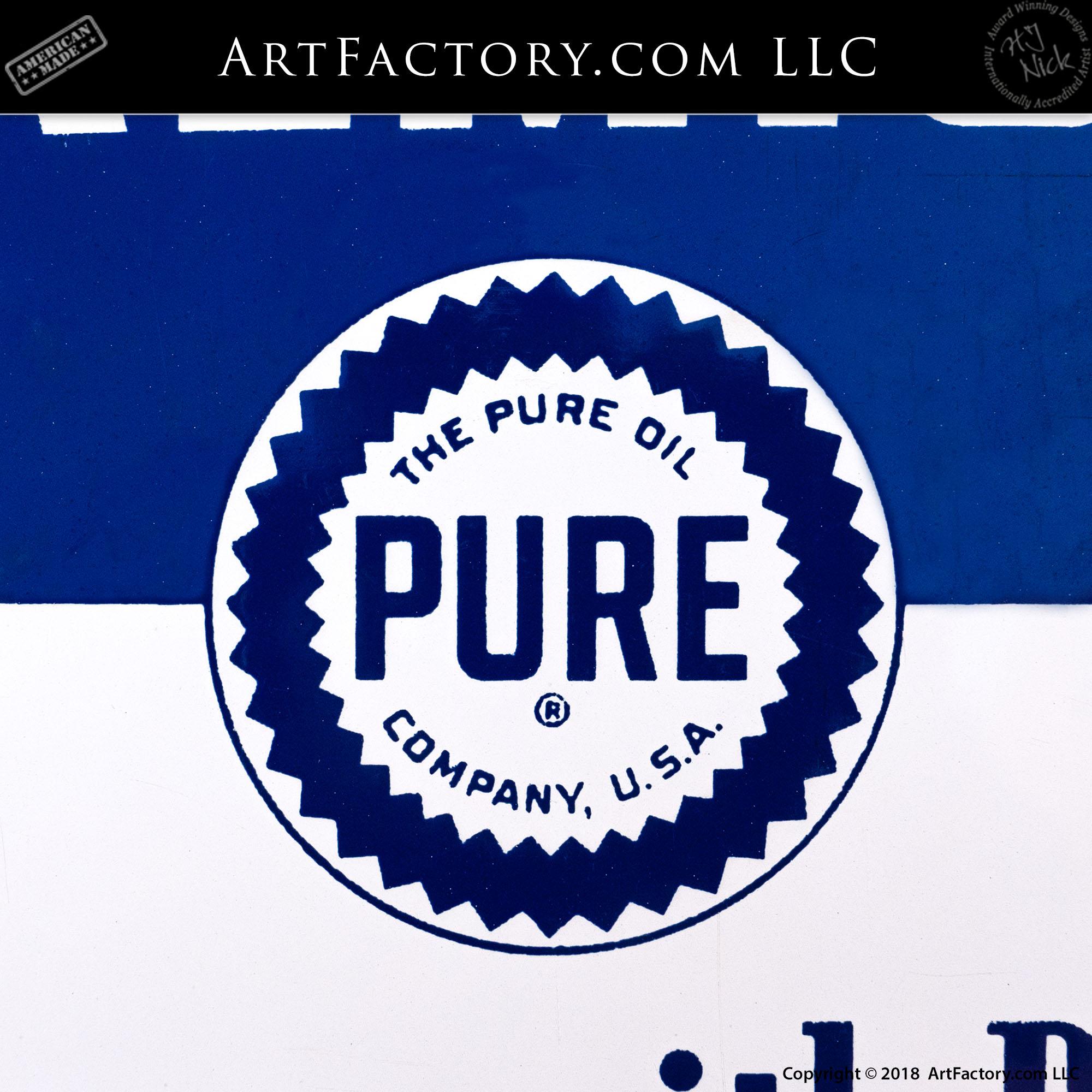 Vintage Pure Premium Oil Sign