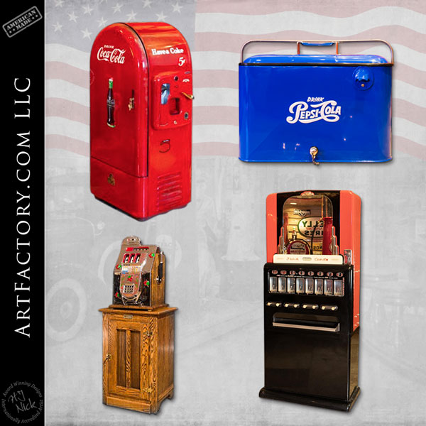 vintage restored vending machines