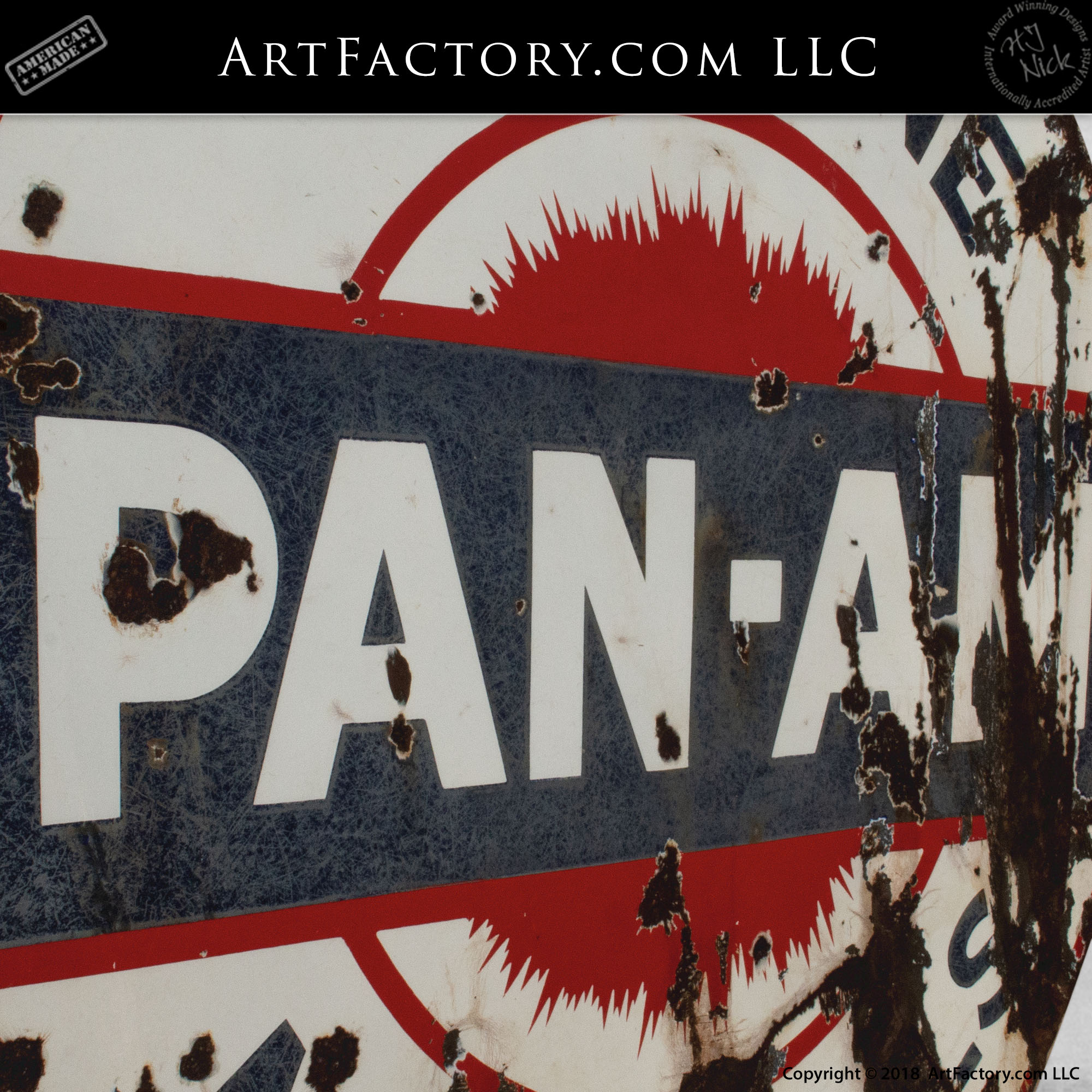Vintage Pan-Am Sign