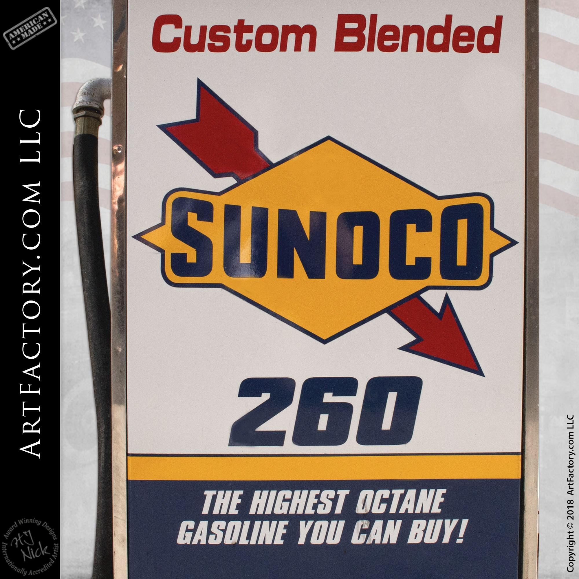 Vintage Mobilgas Sunoco Fuel Pump