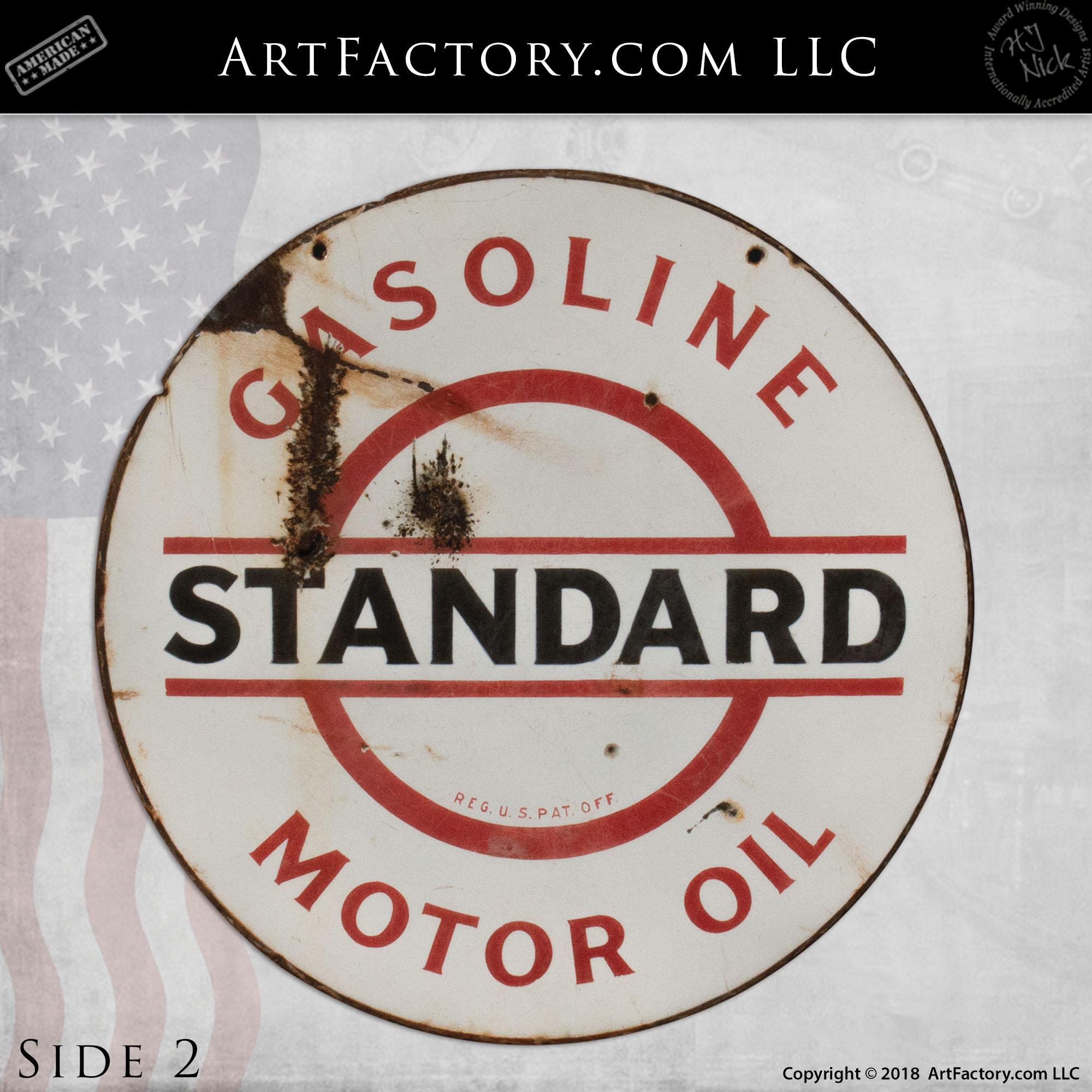 Standard Gasoline Motor Oil Sign