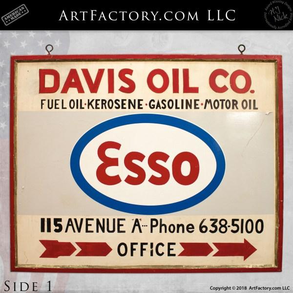 Esso Davis Oil Company Office Sign